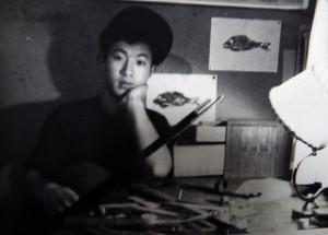 少年時代のK・元美津氏。あどけなさが残る。(写真は山森氏のアルバムより)