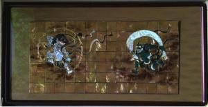 琳派400年に因んで制作された総螺鈿細工品。立体的な面白さが味わえる一品となっています。