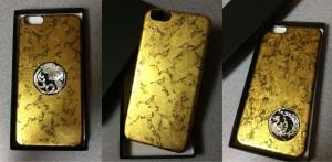 金箔使用螺鈿加飾によるiPHONEケース3種。まさに絢爛豪華な一品となっております。